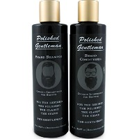 Polished Gentleman Beard Growth and Thickening Shampoo and Conditioner by Polished Gentleman