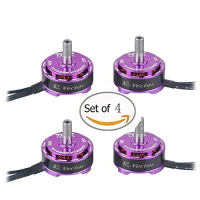 (2500KV, Purple) - 4pcs AOKFLY RV2205 2500KV Brushless Motor 2CW 2CCW for QAV250 QAV300 FPV Racing...