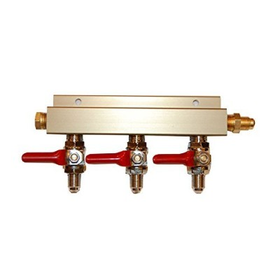 Co2 Distribution Manifold - MFL (Threaded) Connections (3-way) by Chill Passion Inc.