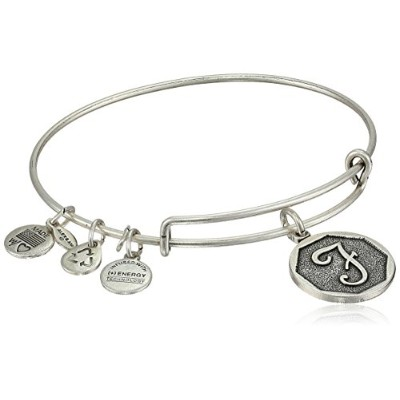 """Alex and Ani Initial Expandable Wire Bangle Bracelet, 2.5"""" X"""