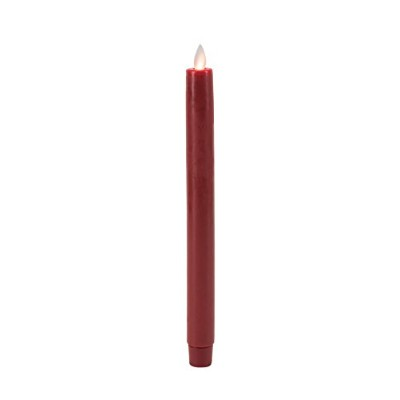 Boston Warehouse Mystique Flameless Taper Candle, 10-Inch, Red by Boston Warehouse