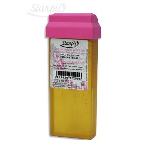 Starpil Wax - Cera Natural (Honey) Roll On Cartridge (110g/3.8oz) - Package with 5 Rolls by Starpil
