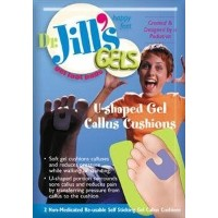 Dr. Jills Gel U-Shaped Callus Pads (Self-Stick & Re-Usable) by Dr. Jill's