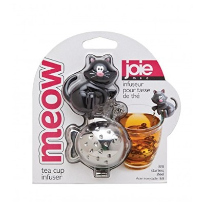 Joie Meow Cat Kitten Tea Cup Infuser 1-Pack ブラック