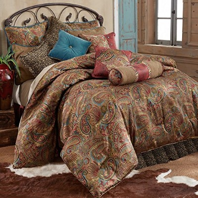 HiEndアクセントSan Angelo Western Comforter Set with Leopardベッドスカート、ツイン