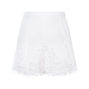 Ermanno Scervino high-waisted lace shorts - ホワイト
