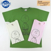 "No.BR76686 BUZZ RICKSON'S × PEANUTSバズリクソンズ×ピーナッツS/S T-SHIRT""CHARLIE BROWN,TYPE MA-1"""