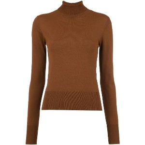 Osklen turtle neck tricot blouse - ブラウン
