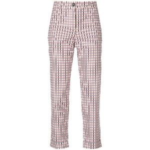 Ps By Paul Smith checked cropped trousers - マルチカラー