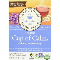 海外直送品Traditional Medicinals Teas Organic Easy Now Tea, 16 Bags