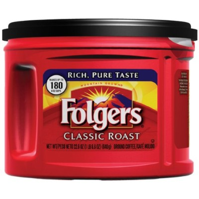 Folgers Classic Roast Coffee, 22.6 Ounce (Pack of 6) by Folgers