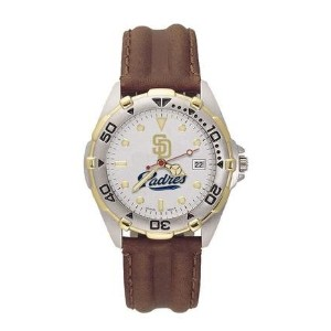 San Diego Padres MLB All Star Watch withレザーバンド – メンズ