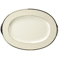 NoritakeシルバーPalace Oval Platter、14-inches
