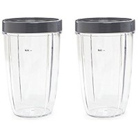 Nutribullet 24-ounceカップwith screw-offリップリングby nutrigear ( Pack of 2) | Nutribullet交換パーツ&アクセサリー|...