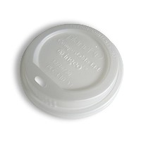 Planet + 100% Compostable PLA Hot Cup Lid, Fits 12/16/20 oz Single Wall Hot Cups and 12/16 oz...