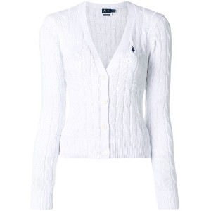 Polo Ralph Lauren cropped cable knit cardigan - ホワイト