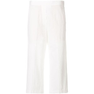 Neil Barrett cropped straight-fit trousers - ホワイト