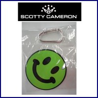 SCOTTY CAMERON SMILY Putting Disk-Black&Lime Green with Carabiner スコッティキャメロン スマイリー パッティングディスク...