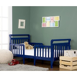 Dream On Me Emma 3 in 1 Convertible Toddler Bed, Royal Blue by Dream On Me