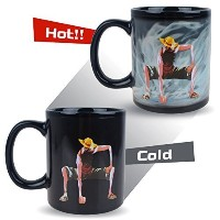 BeneUテつョ One Piece Luffy Changing Coffee Mug Heat-sensitive Reactive Ceramic Cup Coffee Mug by...