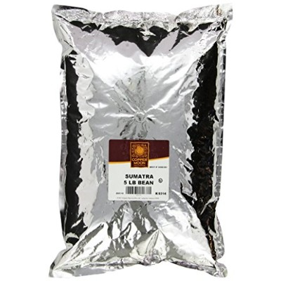Copper Moon Sumatra Dark Coffee, Whole Bean, 5-Pound Bag by Copper Moon