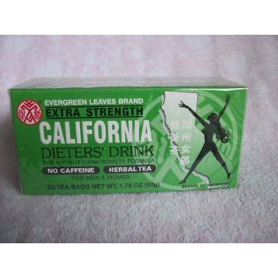 3 BOXES CALIFORNIA DIETERS' DRINK EXTRA STRENTH TEA 1.76 OZ. by N/A