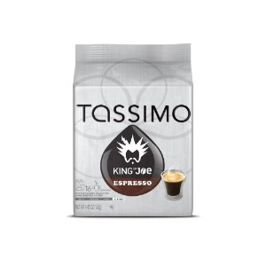 Tassimo King of Joe Espresso, 16-Count 4.45 oz (126g) by Tassimo