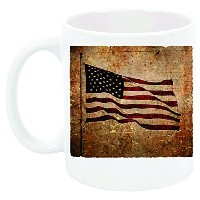 """"""" God Bless the USA United We Stand """"ヴィンテージAmerican Flagコーヒーマグ、Great Gift for Dad、Brother、妹、Veterans"""