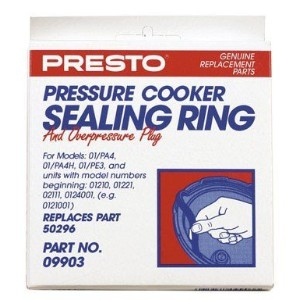 Presto Pressure Cookerシールリングwith over圧力プラグfor Nos 01/ pa4、01/ pa4h、01pe3、0121001