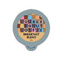 Double Donut Breakfast Blend Coffee, in Recyclable Single Serve Cups for Keurig K-Cup Brewers, 24...
