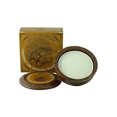 Geo F Trumper Wooden Shave Bowl - Coconut (Sensitive/Dry Skin) by Geo F. Trumper