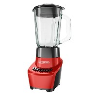 Black + Decker bl1110rg Fusionblade Blender with 6-cupガラスJar、12-speed設定、レッドBlender by Black + Decker