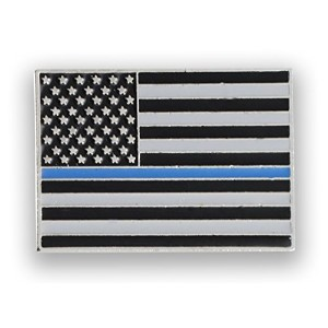 Made In USA Thin Blue Line American Flag警察ピン