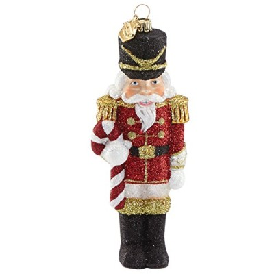 Reed & Barton Jingle All The Way Nutcracker with Candy Cane Figuralオーナメント