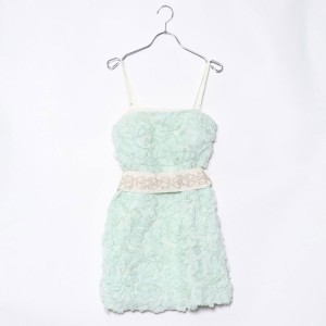 【SALE 90%OFF】ルーミィーズ Roomy's OUTLET THE HANYコラボバラ刺繍ドレス (グリーン)
