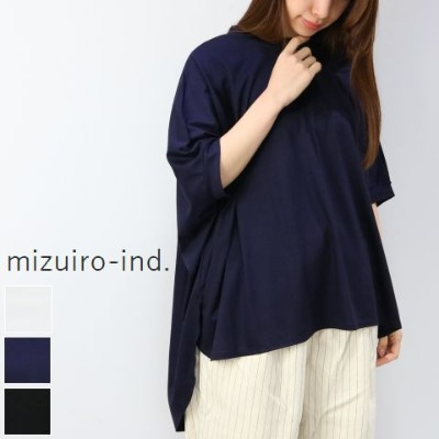 mizuiro ind (ミズイロインド)crew neck wide P/O made in japan2-217509【NEW】【★】