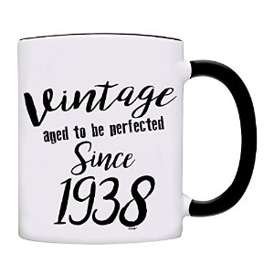 owndis Mug 80th BirthdayギフトVintage Aged to be perfected since 1937コーヒーマグ Coffee Mugs 0100-2