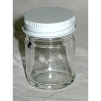 4oz Clear Glass Jar ( C ) *