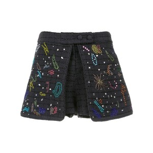 Andrea Bogosian layered appliqué shorts - ブルー