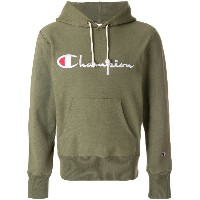 Champion embroidered logo hoodie - グリーン