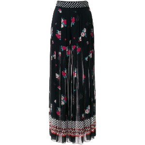 Philosophy Di Lorenzo Serafini printed pleated palazzo pants - ブラック