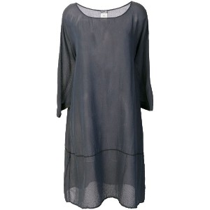 Kristensen Du Nord loose fit sheer dress - グレー