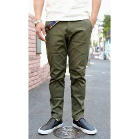 CONTRIVANCE(コントライバンス)STRETCH PIQUE ANKLE TROUSERS (アンクル丈 ストレッチピケ トラウザース )2色展開(OLIVE,BLACK)【日本製...