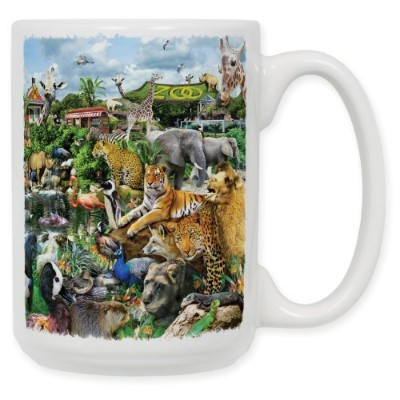 "Art Plates""Zoo Life"" Ceramic Coffee Mug, 440ml"
