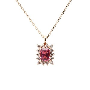 Color Jewels ペンダント ピンクトルマリン K10 ネックレス [ギフトラッピング済み]