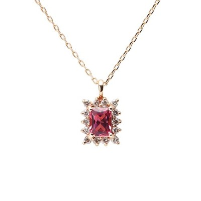 Color Jewels ペンダント ピンクトルマリン K10 ネックレス レディース [ギフトラッピング済み]