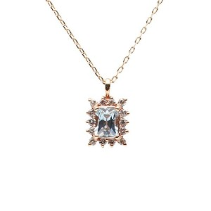 Color Jewels ペンダント アクアマリン K10 ネックレス [ギフトラッピング済み]