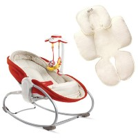 Tiny Love 3 in 1 Rocker Napper with Snuzzler Seat Insert, Red by Tiny Love