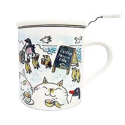 Cat Chips Penguin Cafe ハーブマグカップ