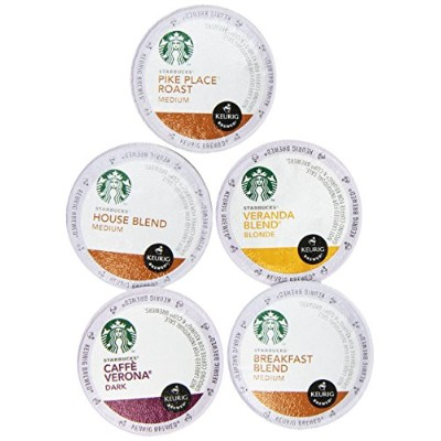 20-count K-cup for Keurig Brewers Flavored Coffee Variety Pack Featuring Starbucks Cups by Custom...